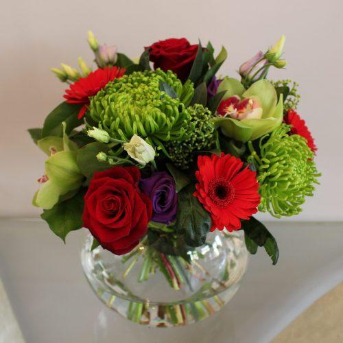 fishbowl vase flowers annabelle