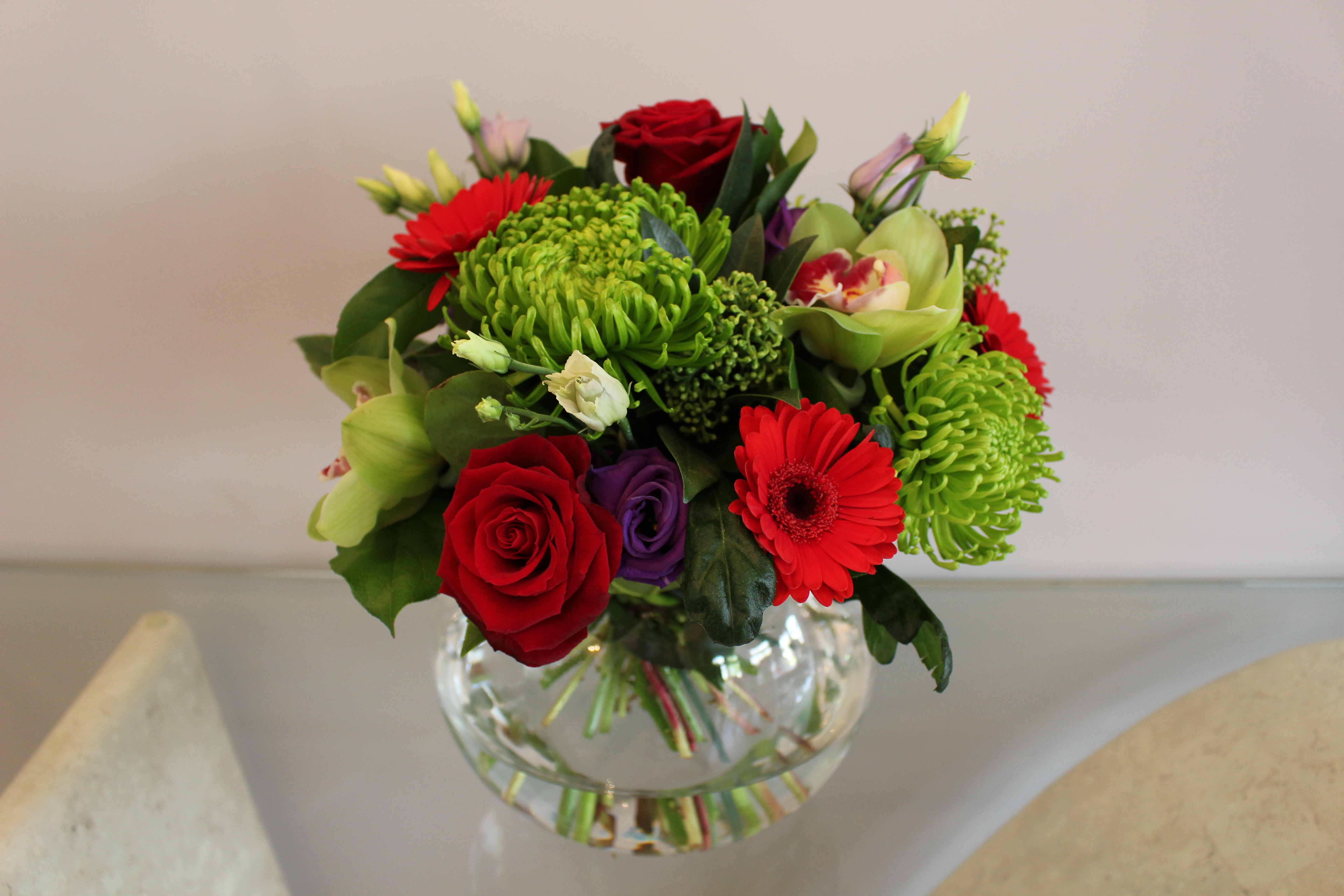 Annabelle fishbowl flower arrangement bushey heath bushey village fishbowl vase flowers annabelle izmirmasajfo