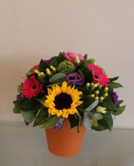 terracotta pot bouquet emily 2