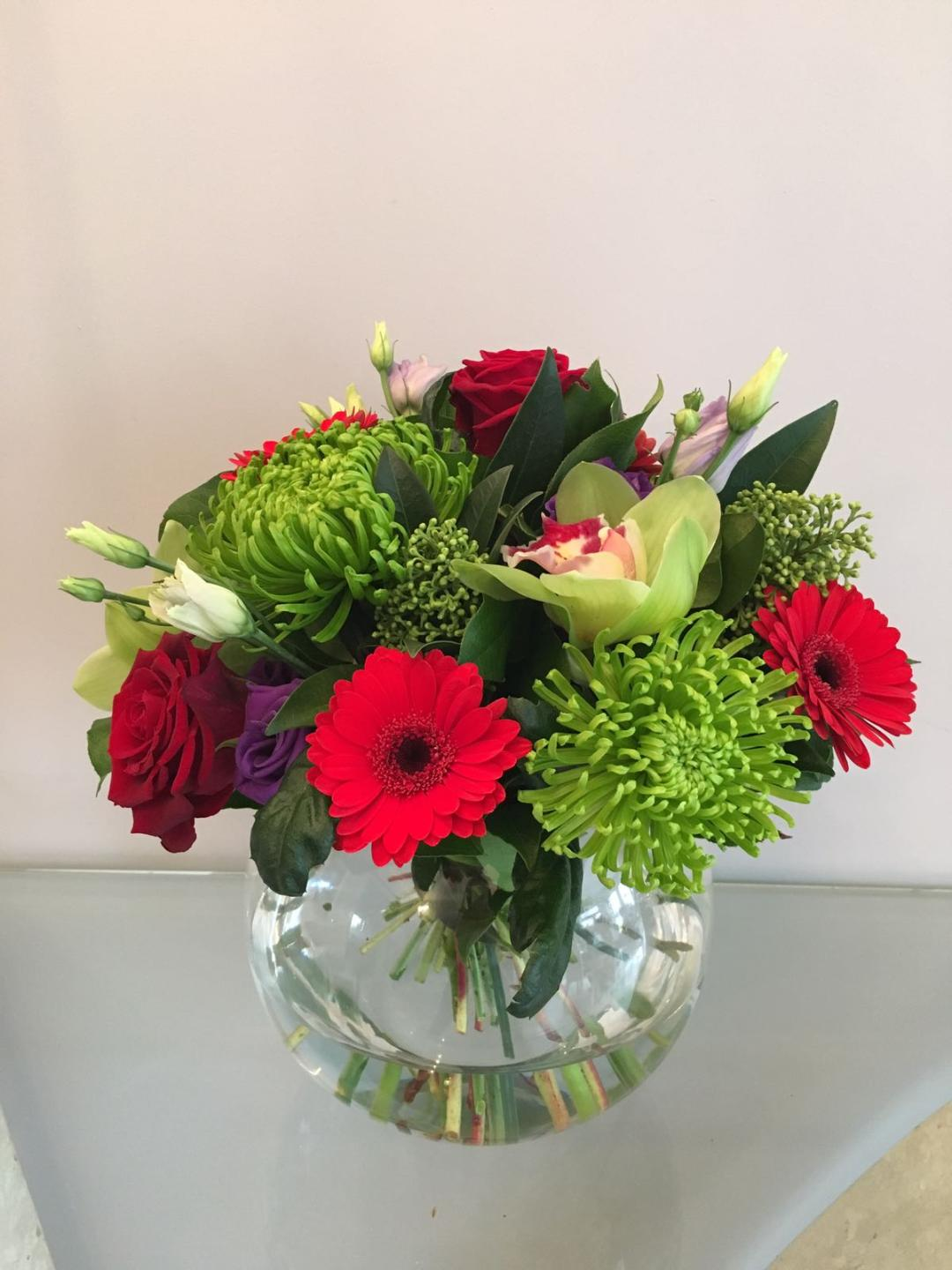 Annabelle fishbowl flower arrangement bushey heath bushey village annabelle izmirmasajfo